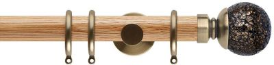 Rolls Neo Style Mosaic Ball 35mm Wooden Curtain Pole