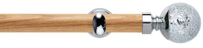 Rolls Neo Style Mosaic Ball 28mm Wooden Eyelet Curtain Poles