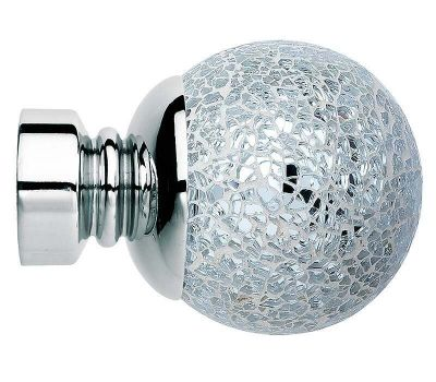 Rolls Neo Mosaic Ball 35mm Curtain Pole Finials (Pair)