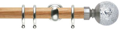 Rolls Neo Style Mosaic Ball 28mm Wooden Curtain Poles