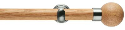 Rolls Neo Oak Ball 28mm Wooden Eyelet Curtain Poles