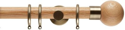 Rolls Neo Oak Ball 35mm Wooden Curtain Poles