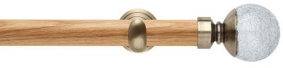 Rolls Neo Style Cracked Glass Ball 28mm Wooden Eyelet Curtain Poles