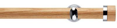 Rolls Neo Oak Stud  28mm Wooden Eyelet Curtain Pole