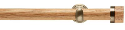 Rolls Neo Oak Stud  28mm Wooden Eyelet Curtain Pole