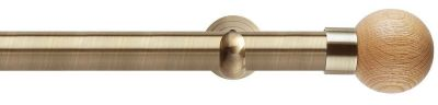 Rolls Neo Oak Ball 28mm Metal Eyelet Curtain Poles