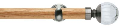 Rolls Neo Style Clear Pumpkin Ball 28mm Wooden Eyelet Curtain Pole