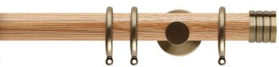 Rolls Neo Stud 35mm Wooden Curtain Pole