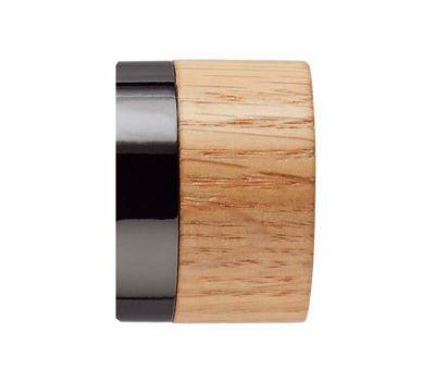 Rolls Neo Oak Stud Finials for 28mm Curtain Poles (Pair)