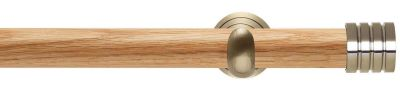Rolls Neo Stud 28mm Wooden Eyelet Curtain Pole