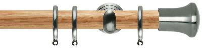 Rolls Neo Trumpet 28mm Wooden Curtain Pole
