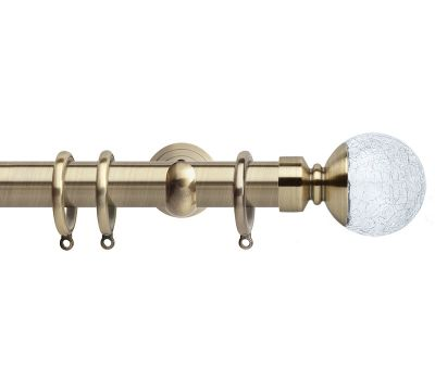 Rolls Neo Style Cracked Glass Ball 28mm Metal Curtain Poles