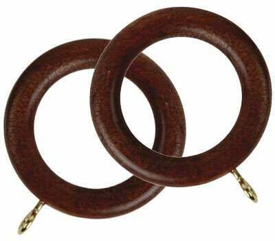 Rolls Woodline Curtain Rings for 50mm Poles (4 per pack)