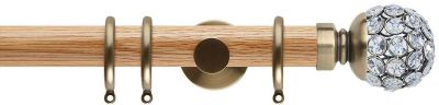 Rolls Neo Style Jewelled Ball 35mm Wooden Curtain Poles