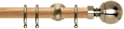 Rolls Neo Ball 28mm Wooden Curtain Poles