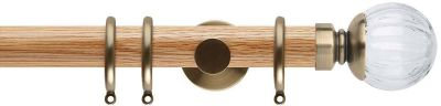Rolls Neo Style Clear Pumpkin Ball 35mm Wood Curtain Pole