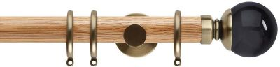 Rolls Neo Premium Smoke Grey Ball 35mm Wooden Curtain Pole