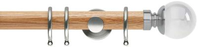 Rolls Neo Premium Clear Ball 35mm Wooden Curtain Poles