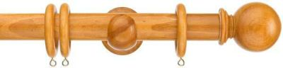 Swish Naturals Ball 35mm Wooden Curtain Pole