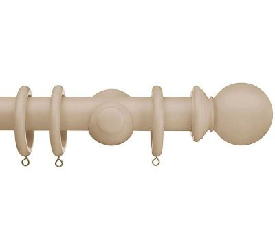 Swish Romantica Ball 35mm Wood Curtain Pole