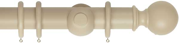 Museum Plain Ball 55mm Wooden Curtain Poles