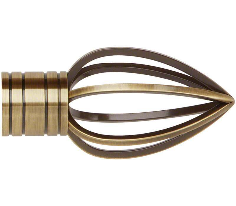 Galleria Caged Spear Finial for 35mm Curtain Pole