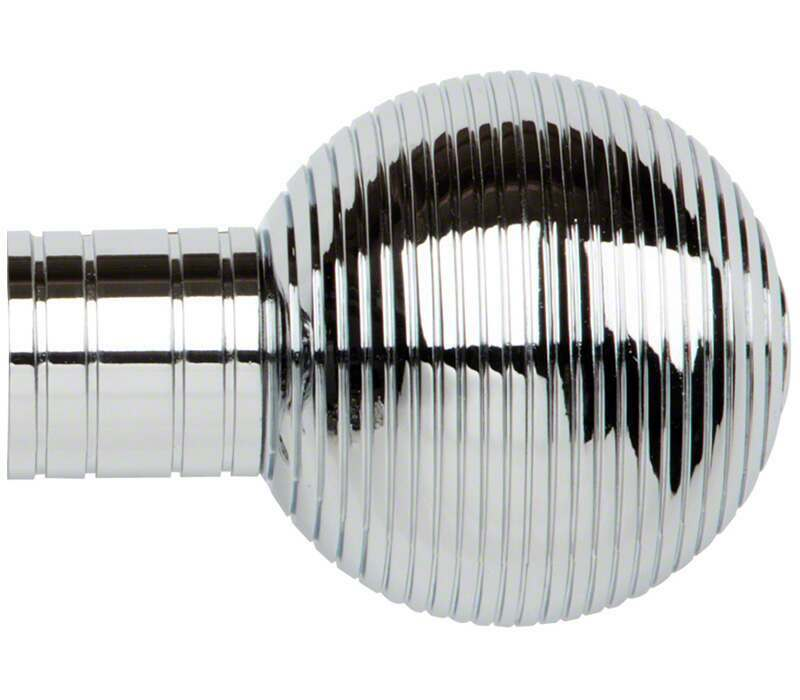 Galleria Ribbed Ball Finial for 35mm Poles