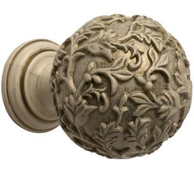 Rolls Modern Country Floral Ball Finial for 55mm Curtain Poles