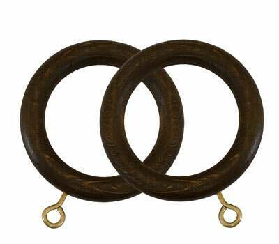 Museum Wooden Rings for 45mm Curtain Poles (4 per pack)
