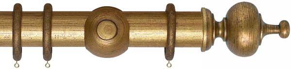 Museum Boudoir Wooden 55mm Curtain Poles