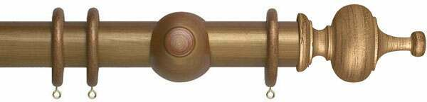 Museum Boudoir 45mm Wood Curtain Poles