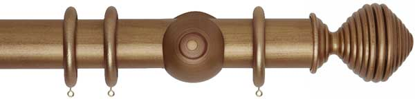 Museum Dune Wood 55mm Curtain Pole
