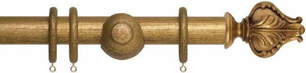 Museum Vienna 35mm Wooden Curtain Poles