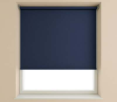 Speedy Navy Plain Roller Blind (Blackout)