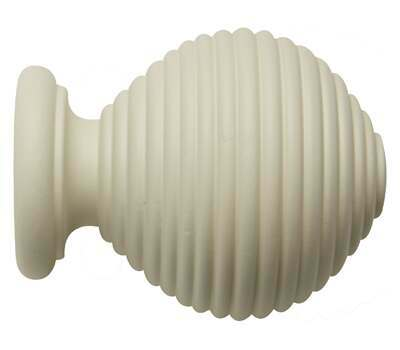 Rolls Modern Country Ribbed Ball Finial for 55mm Curtain Poles
