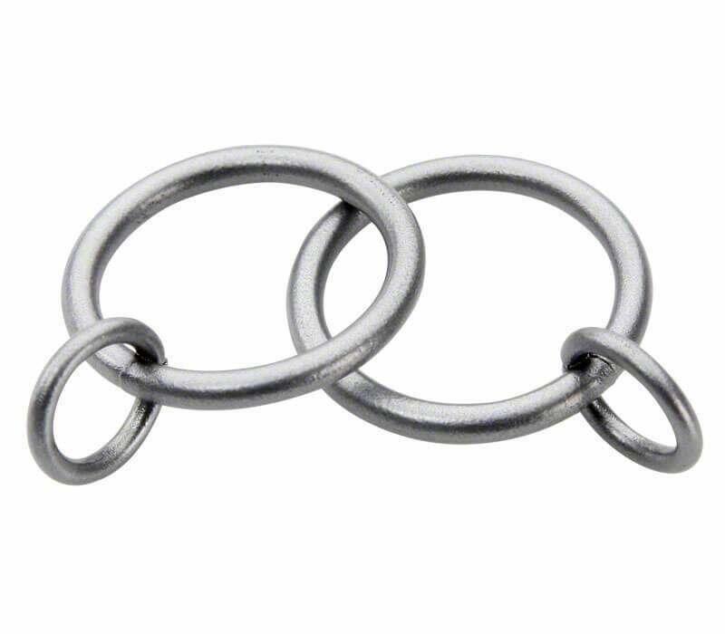 Cameron Fuller Metal Curtain Rings for 19mm Curtain Poles (6 per pack)