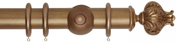 Museum Vienna 55mm Wooden Curtain Poles
