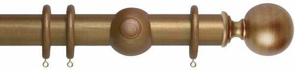 Museum Plain Ball 45mm Wooden Curtain Poles