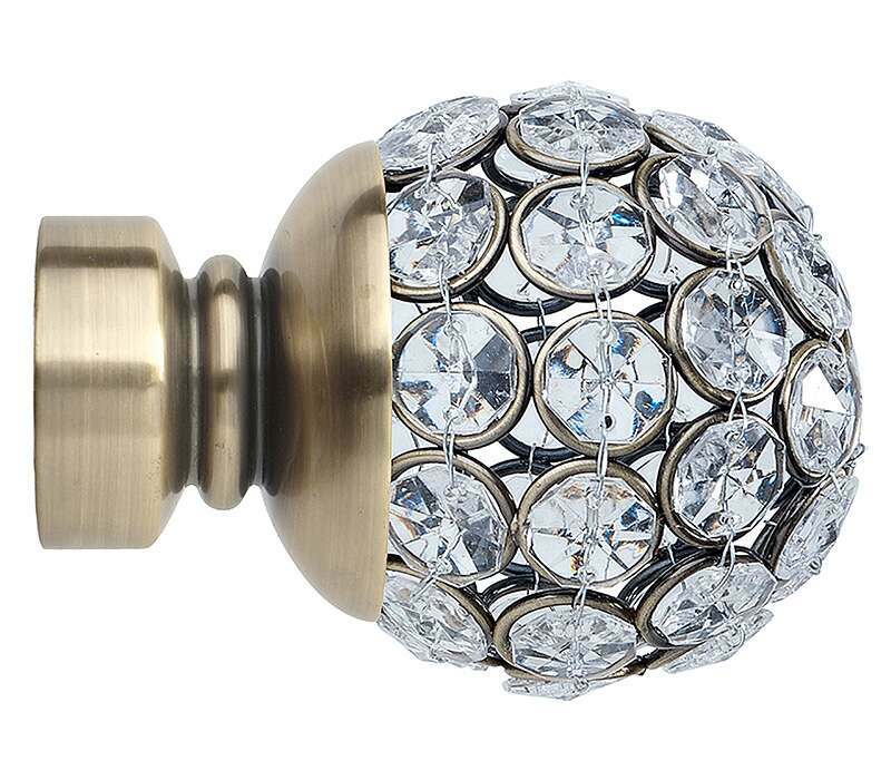 Rolls Neo Jewelled Ball Finials for 35mm Poles (Pair)
