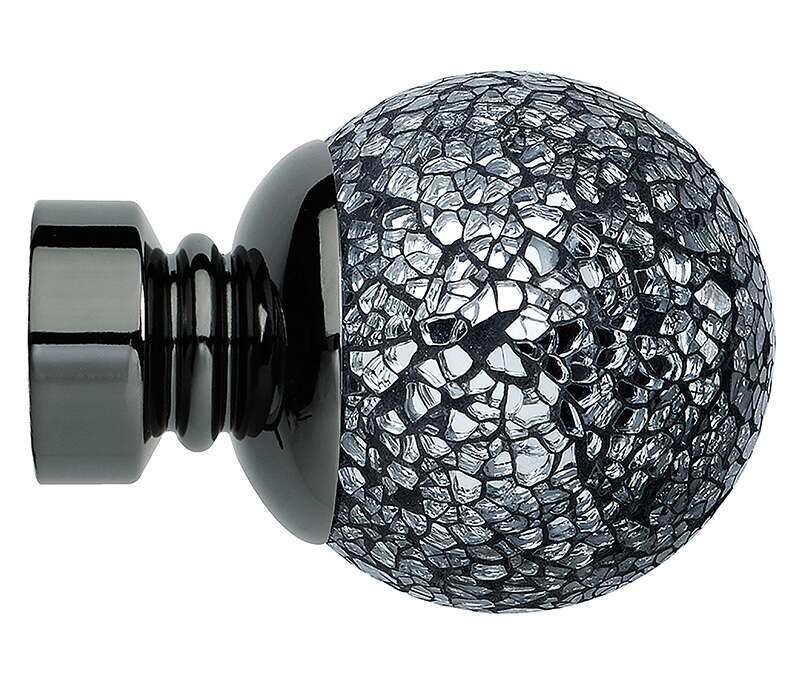 Rolls Neo Mosaic Ball 35mm Curtain Pole Finials (Pair)