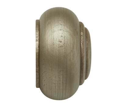 Rolls Modern Country Button Finial for 55mm Curtain Poles