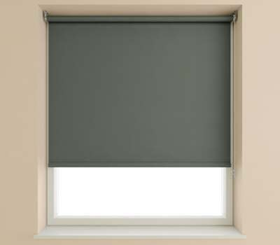 Speedy Slate Plain Roller Blind (Blackout)