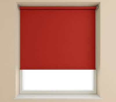 Speedy Deep Red Plain Roller Blind (Blackout)