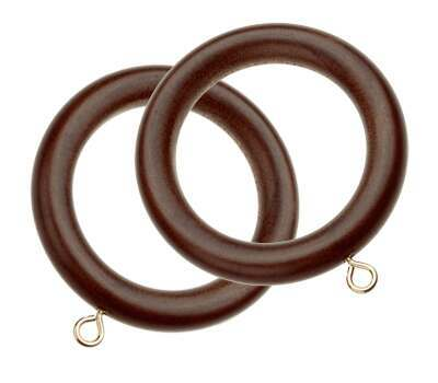 Swish Naturals Wooden Curtain Rings for 28mm Poles (6 per pack)