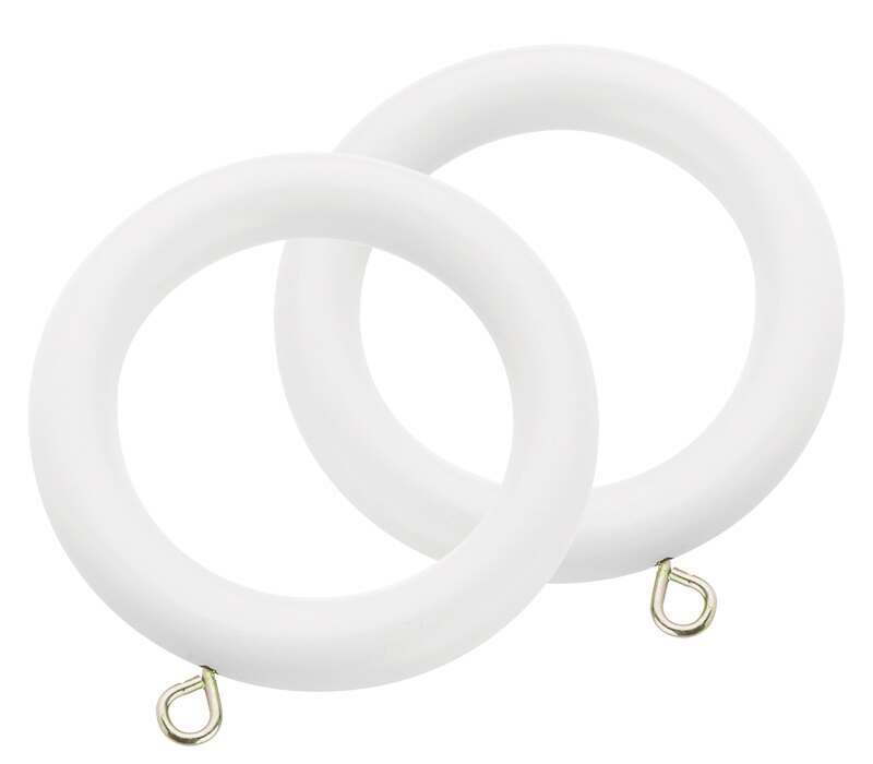 Swish Romantica Curtain Rings for 35mm Curtain Poles (6 per pack)