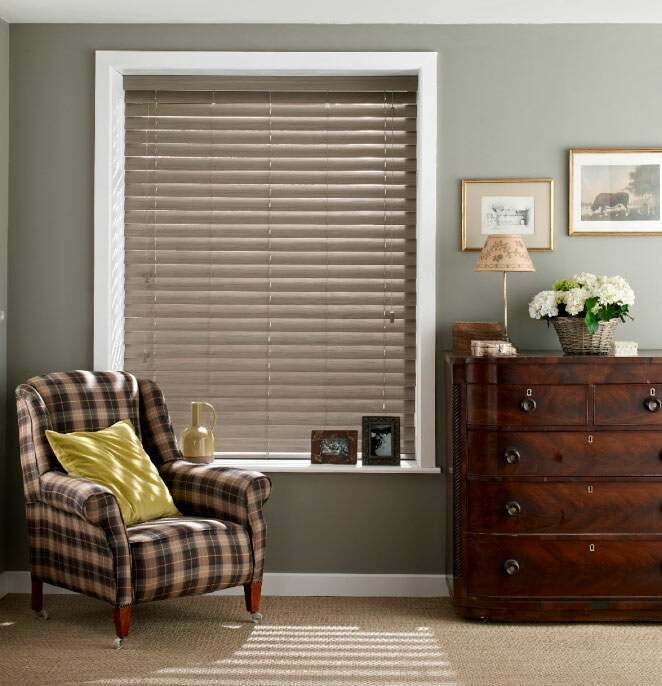 Stunning wooden blinds in the living room