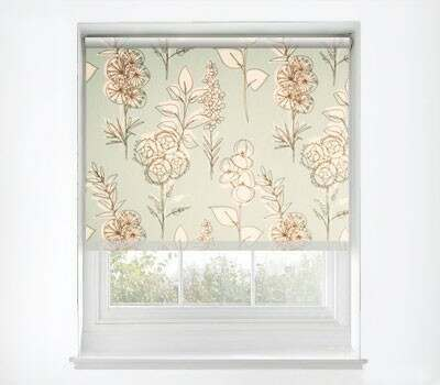 A luxury blue roller blind ideal for bedrooms