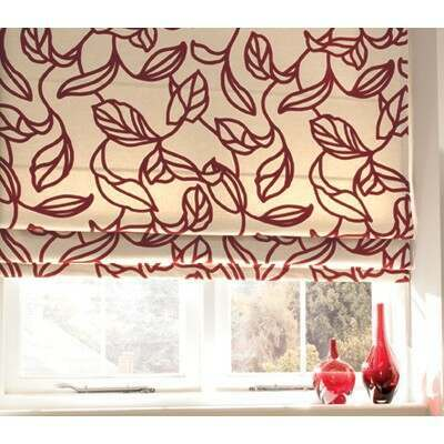 An example of a Roman blind in the bedroom