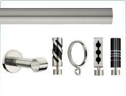 Integra Inspired metal curtain pole and related items