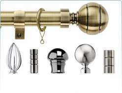 Integra metal curtain poles